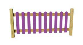 Cloture monocouleur aire de jeux module de 2m ral au choix