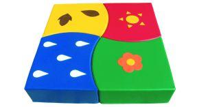 Puzzle geant 4 pieces mousse 100x100x20 cm