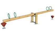 La balancoire horizontale 4 places bois